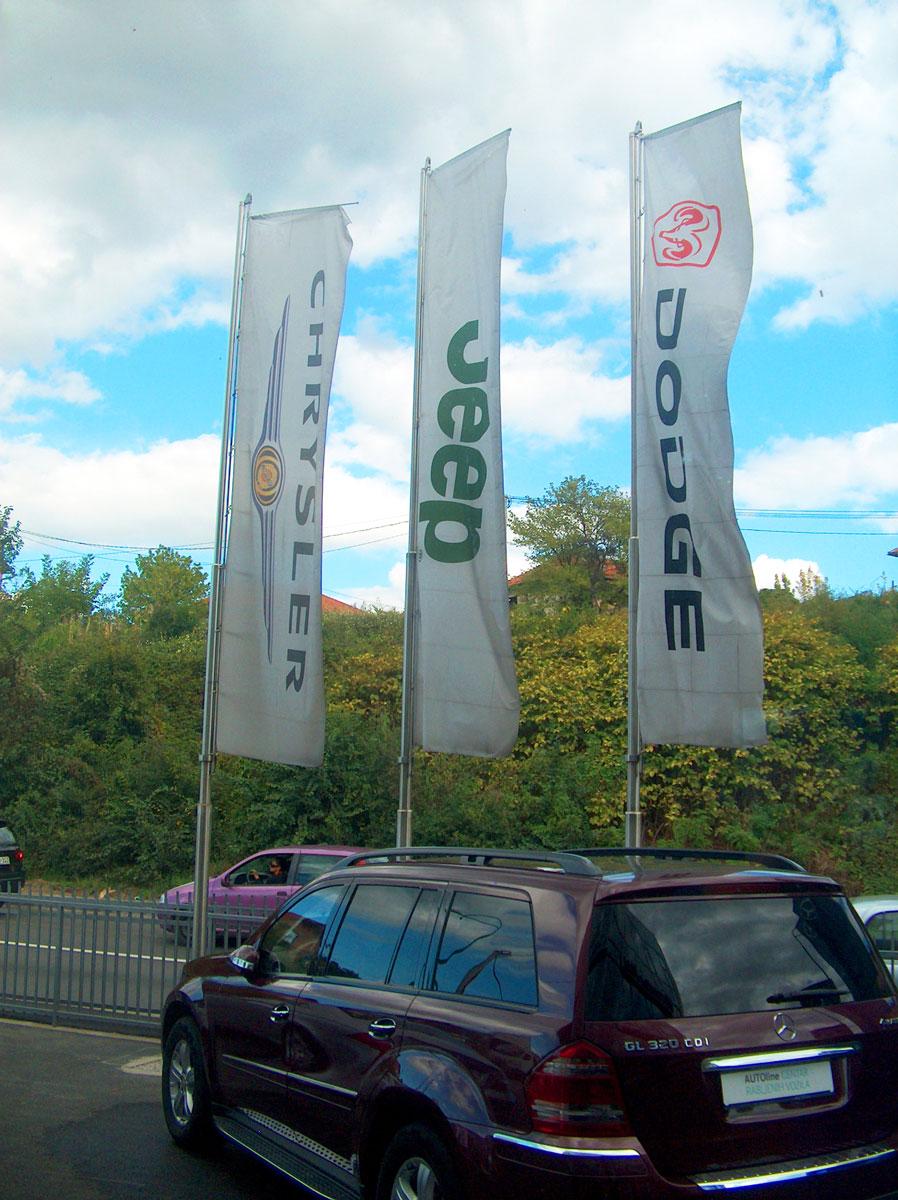 Chrysler, Jeep, Dodge zastave sa štampom u punom koloru