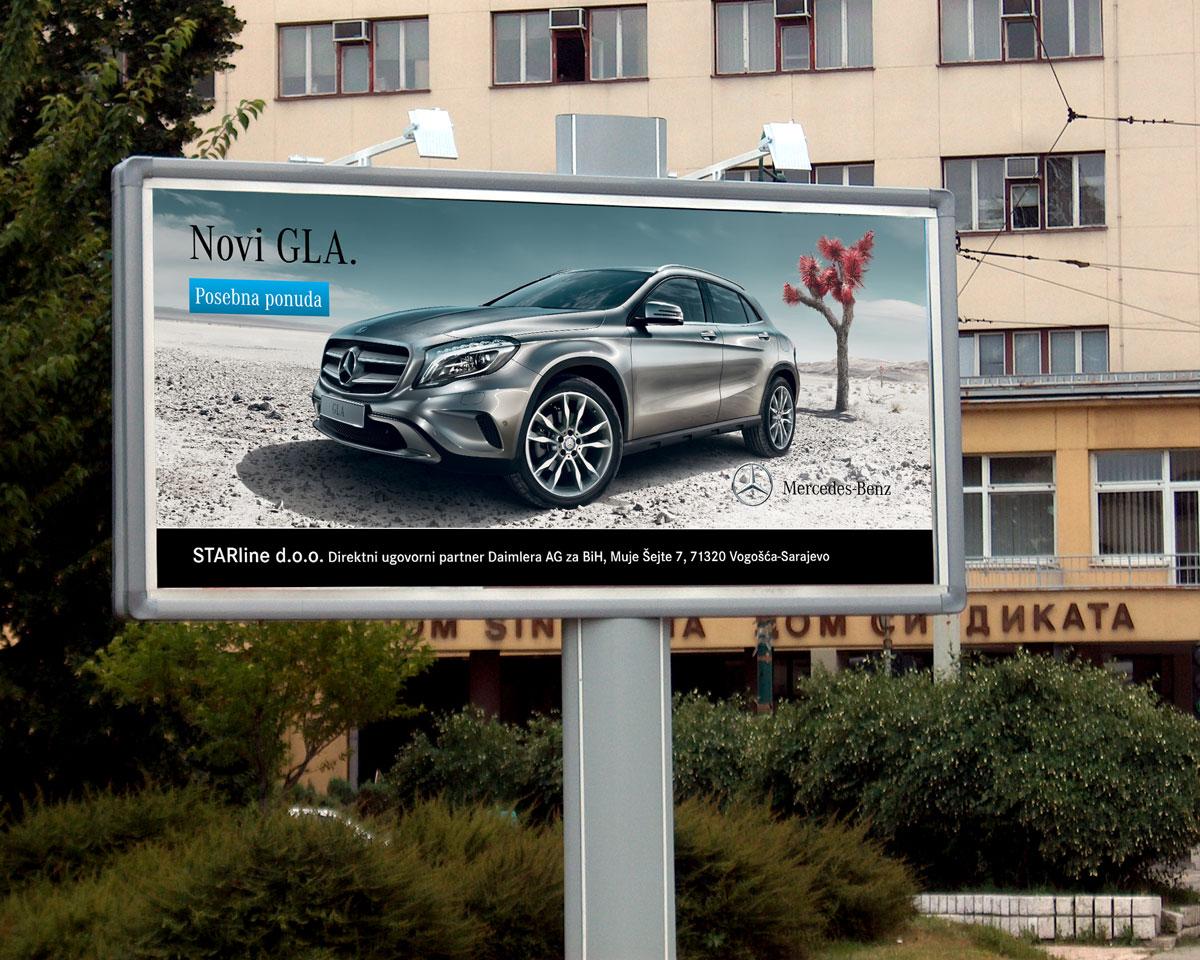 Mercedes-Benz billboard za novi GLA