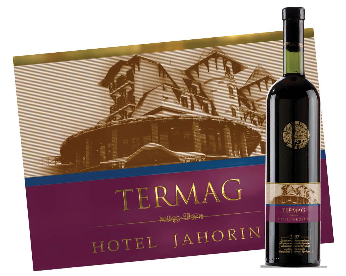 Etiketa za kućno vino Hotel Termag