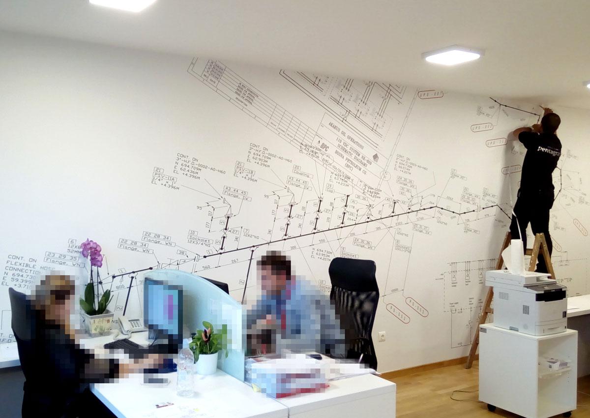 Foto-tapeta za unutrašnje uređenje poslovnih prostorija
